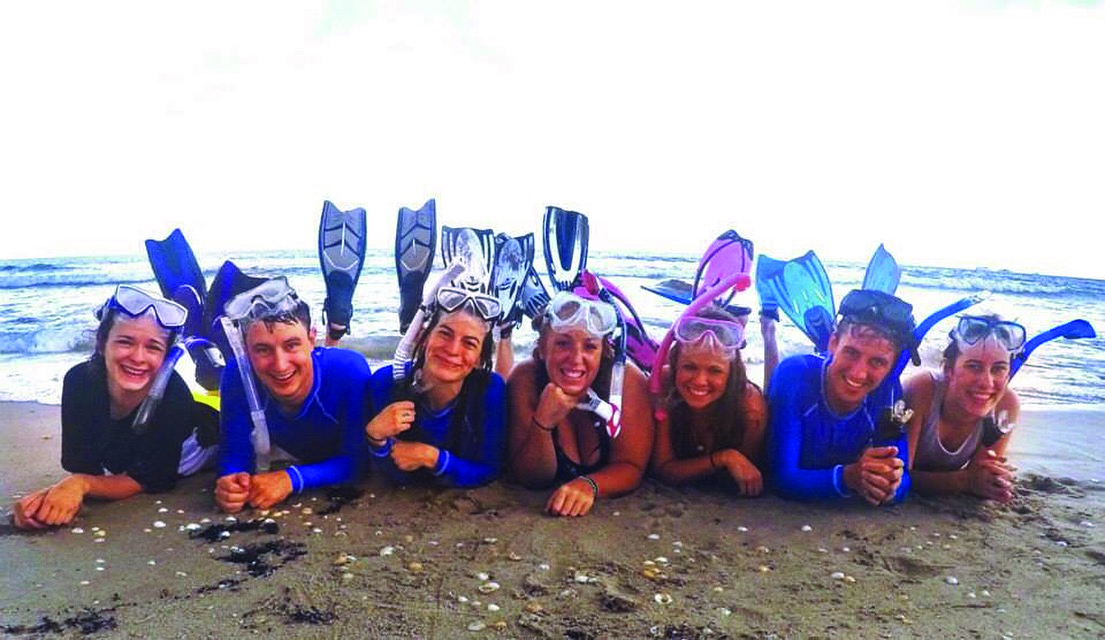 Group of Snorkelers on the Beach