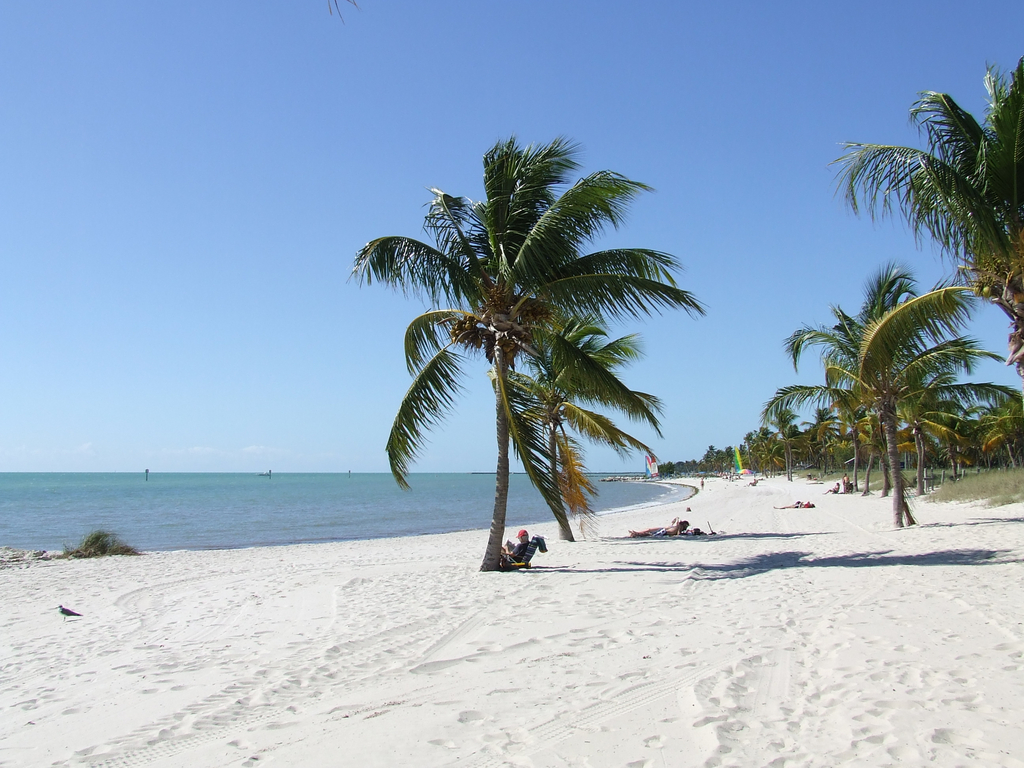 Beach view at Lovers Key