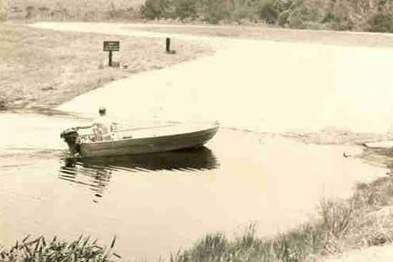 Lake Griffin Concrete Boat Ramp, circa 1960