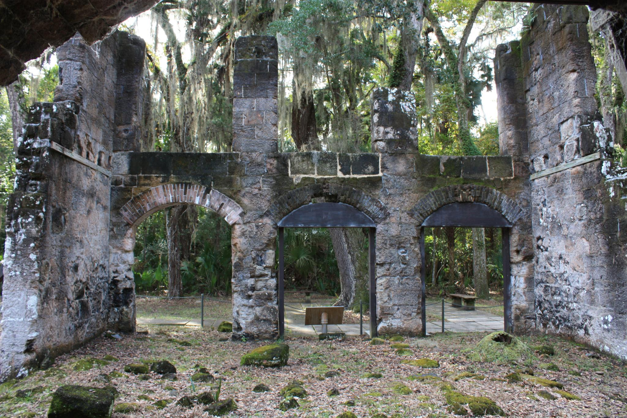 Scorched remains of Bulow Plantation Ruins