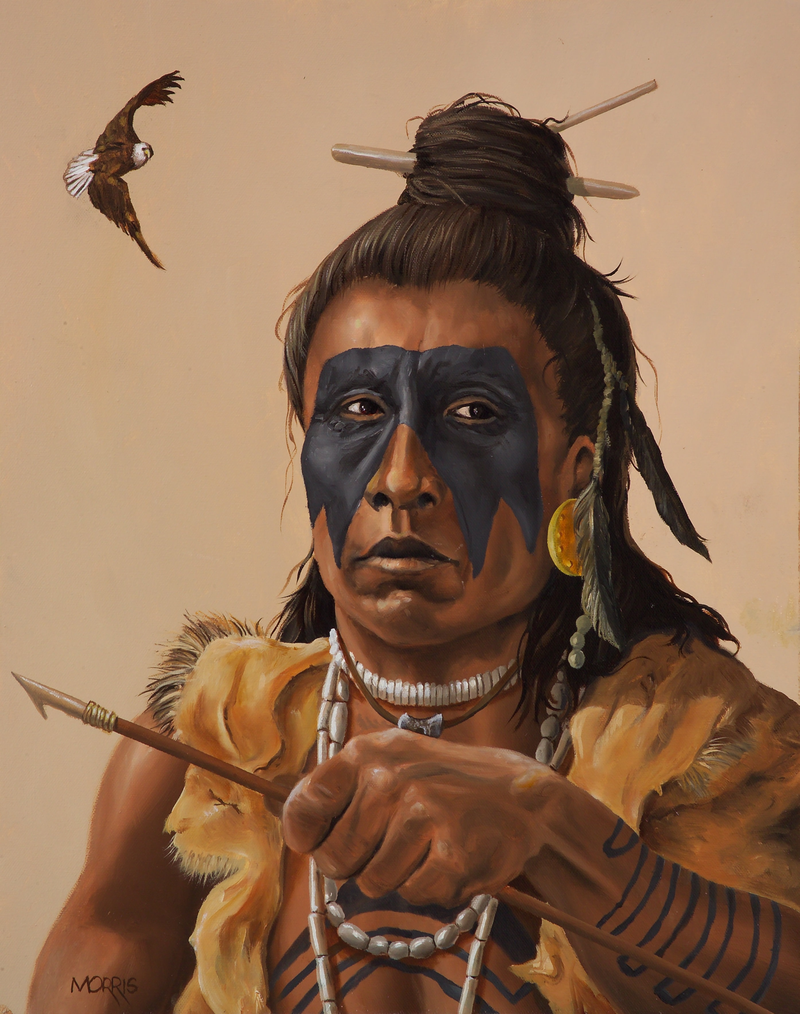 Painting of a Timucua Fisherman