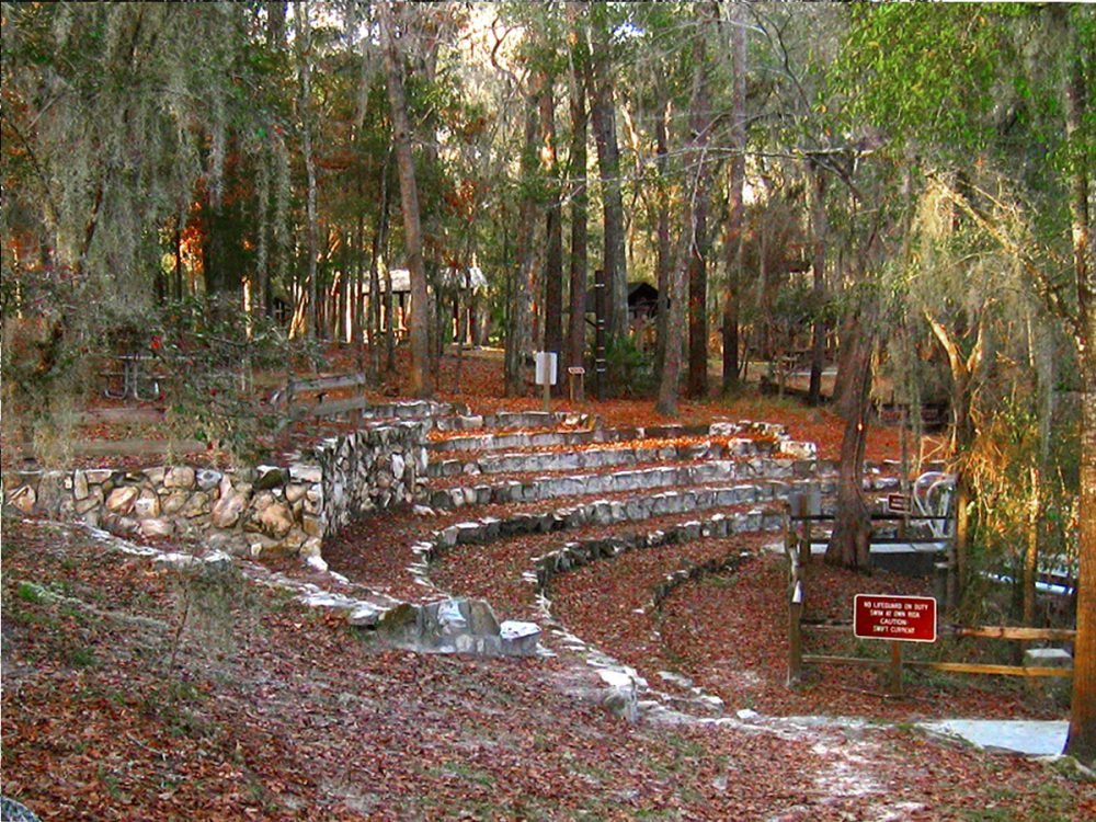 Amphitheater constructed on Ocala Limestone