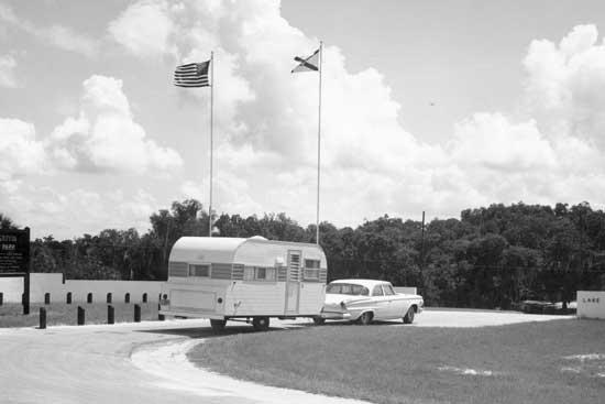 Camping at Lake Griffin, circa 1960