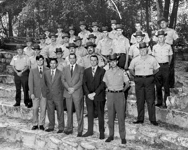 Graduates of the first Florida Park Service Ranger Academy, circa 1972