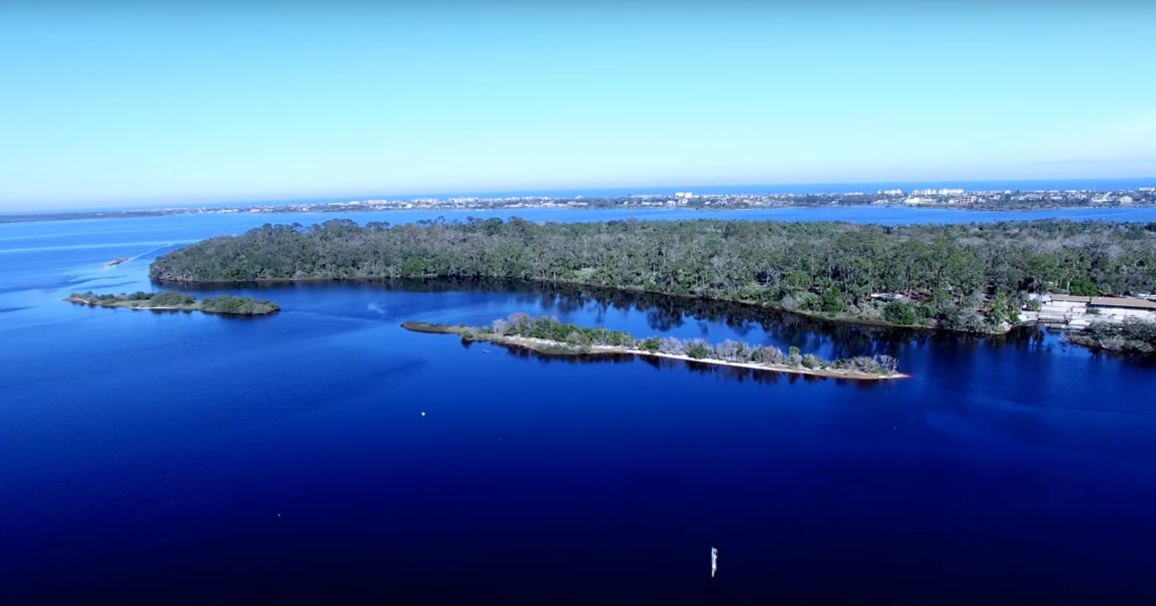 Aerial photo of the Point in Tomoka State Park
