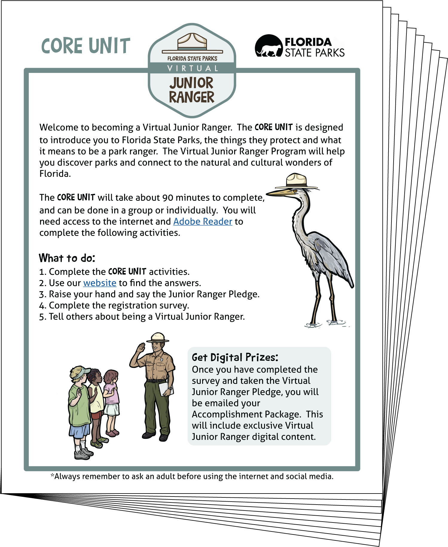 Virtual Junior Ranger: Core Unit