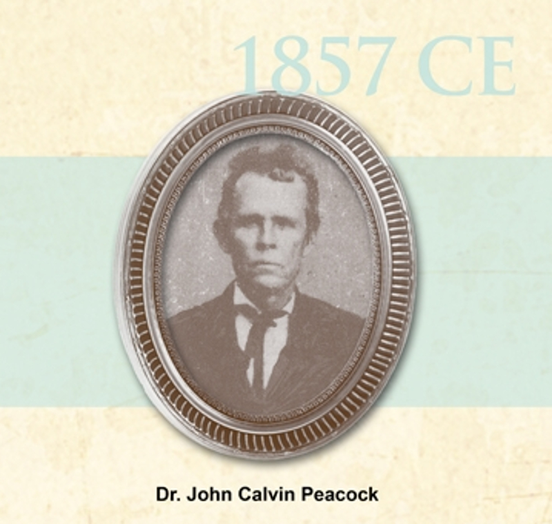 antique circular image of Dr. John Calvin Peacock