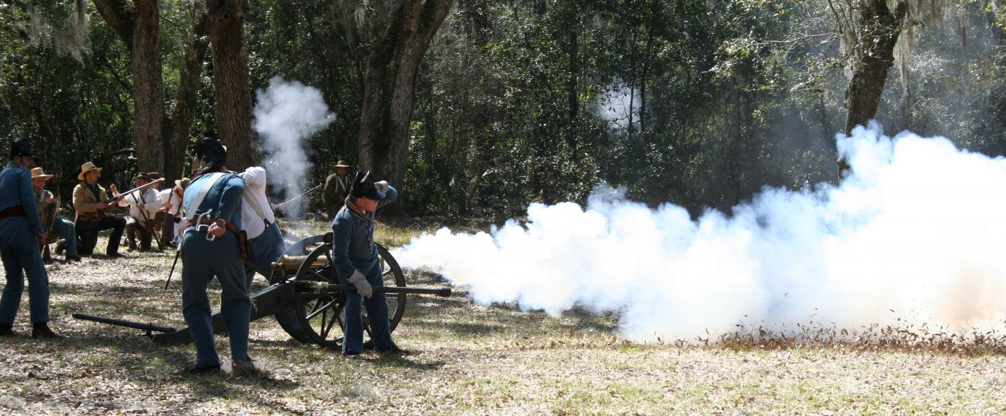 Fort Cooper Days Cannon Firing