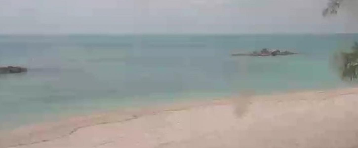 the beach and ocean as seen from Fort Zachary Taylor Historic State Park in Key West.