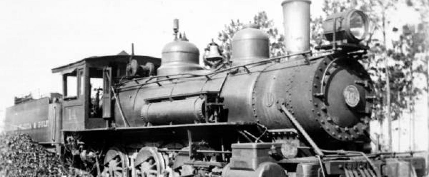 Historical image of Florida Alabama line train circa 1935.
