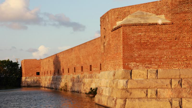 View from side of Fort Zachary Taylor