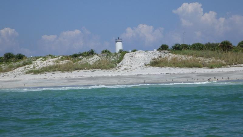 A view of the shoreline at Egmont Key.