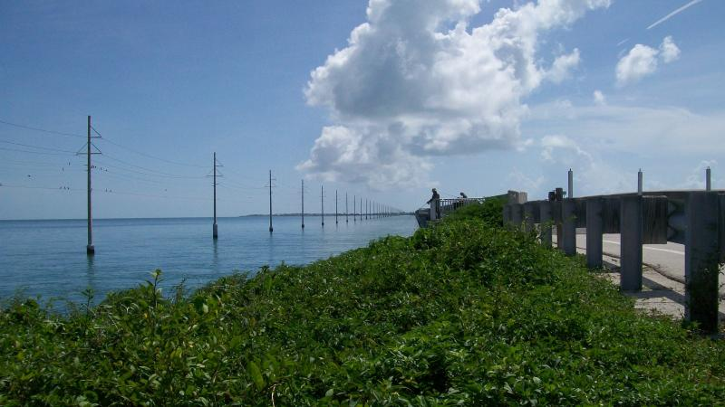 Fishing under blue skies along the Florida Keys Overseas Heritage Trail