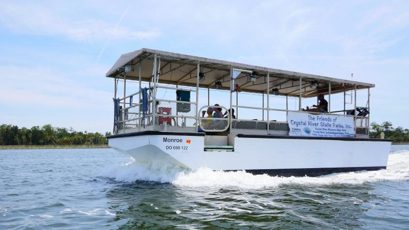 The Friends of the Crystal River State Parks boat tour