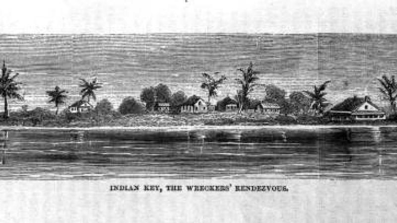 Drawing of Indian Key during the 1830's