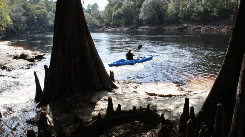 Woman in Kyak on the Suwannee River
