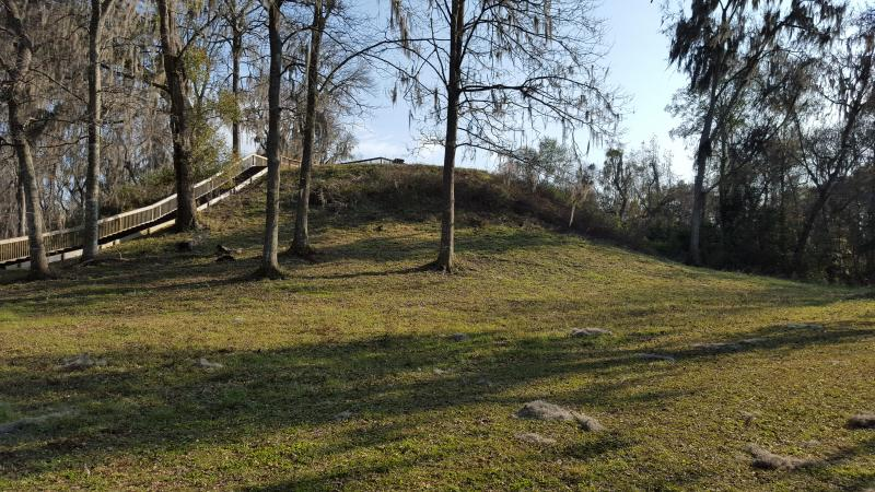 Large Mound at Lake Jackson Mounds Archaeological State Park