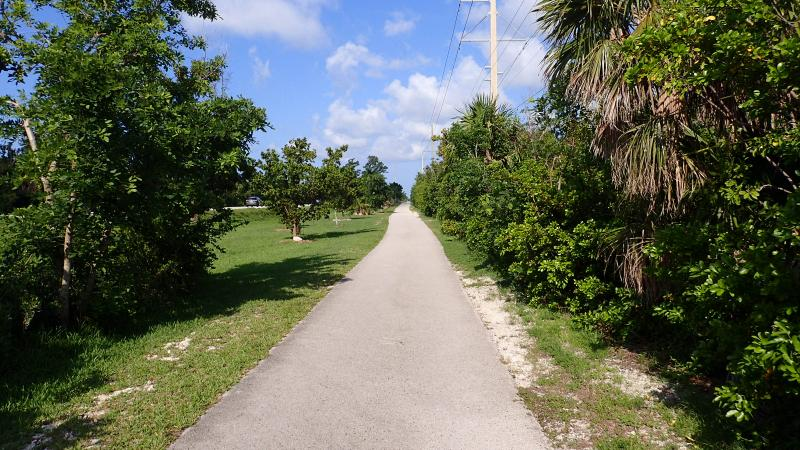 Bike path at Grassy Key