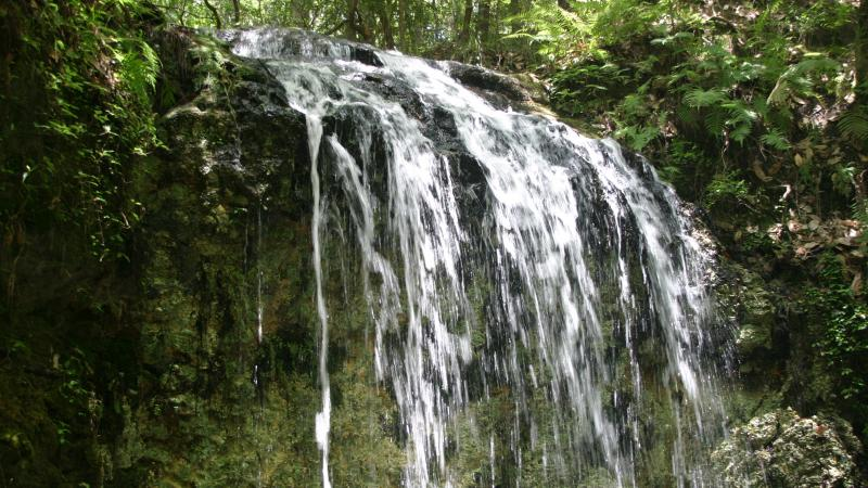 Water cascading into Falling Waters Sink