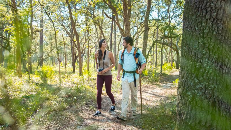 Couple Hiking at Wekiwa