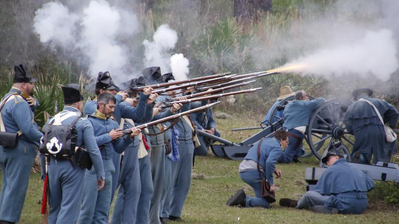Volley Fire at Dade Battlefield