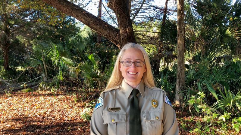 Image of Kimberlee Tennille, park manager at Homosassa Springs State Park.