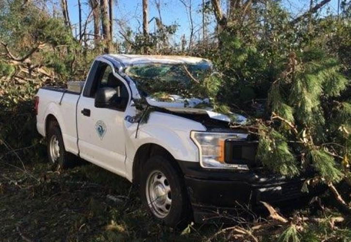 Three Rivers Hurricane Damage truck
