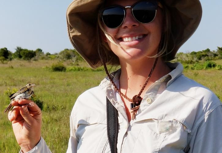 KPPSP Biologist Catie Welch holding a FGSP