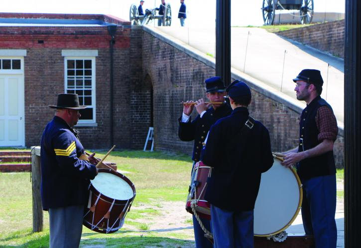 Renenactors is Period Dress at Fort Clinch