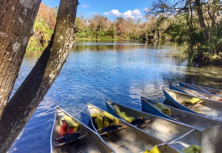 Canoes at Wekiwa Springs