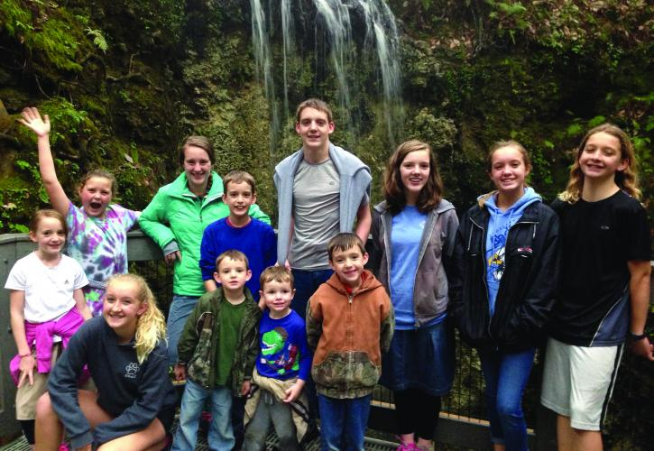 Family at the Falls