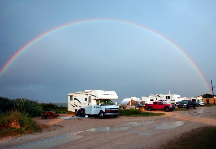 Rainbow at Gamble Rogers campgound