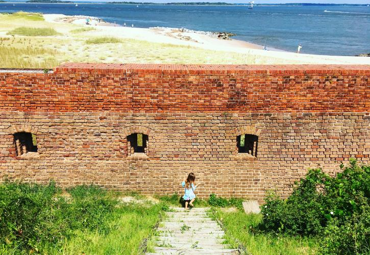 Girl at Fort Wall