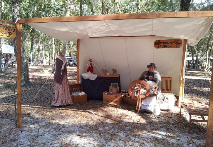 Reenactors at Manatee Springs