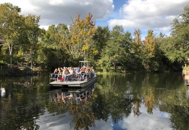 Boat Tour on Pepper Creek