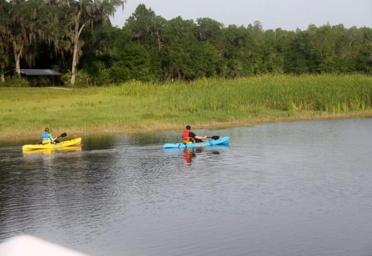 Paddling at Colt Creek