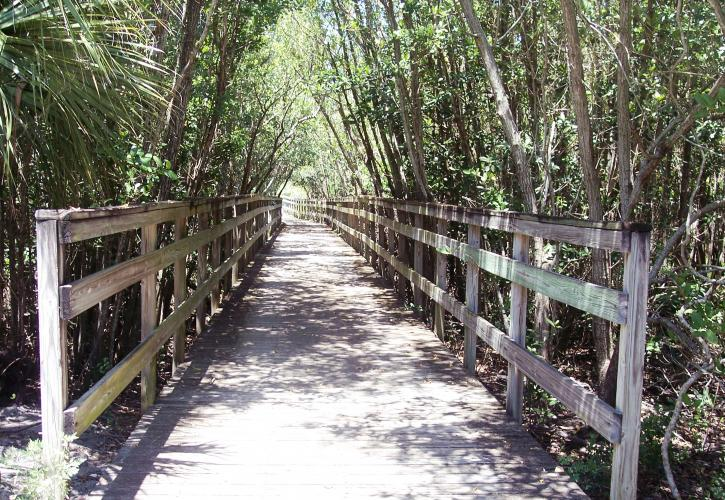 Covered walkway at Fort Pierce Inlet