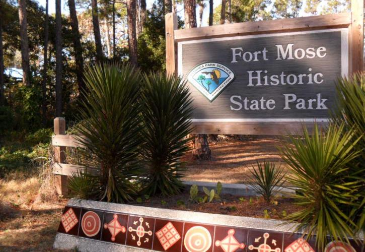 Welcome Sign at Fort Mose