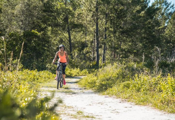 Biking at Wekiwa Springs