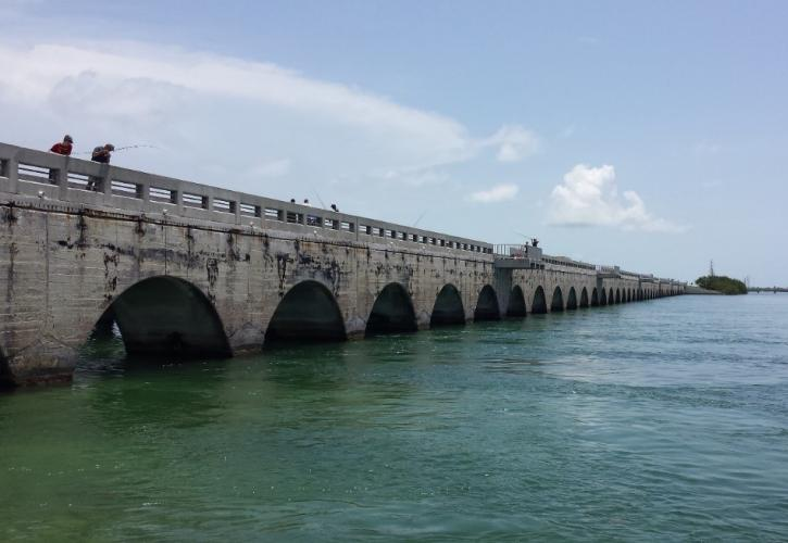 View of the Spandrel Arch Bridge at Toms Harbor