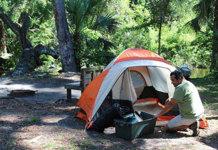 Camping at Wekiwa Springs