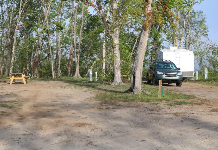A view of the campground at Torreya.