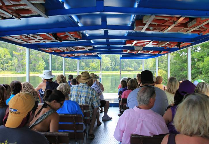 River Boat Tour inside