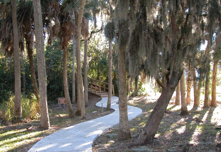 Another view of the paved nature viewing path.