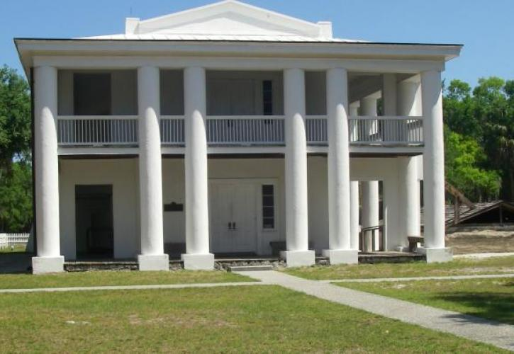 Mansion at Judah P. Benjamin Confederate Memorial at Gamble Plantation Historic State Park