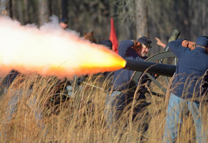 Olustee Battlefield Cannon Fire