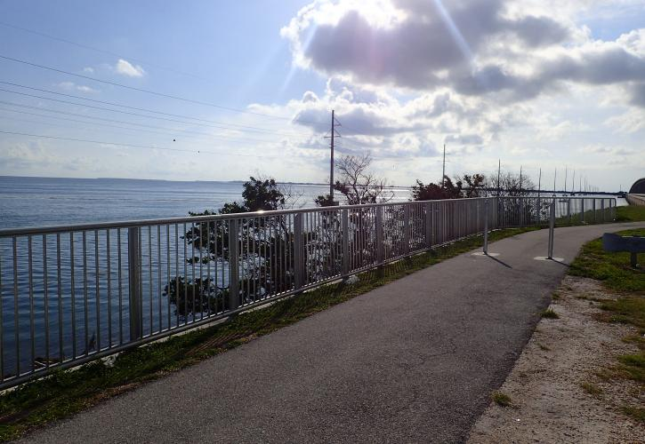 View of the Bay along the path at Channel 5