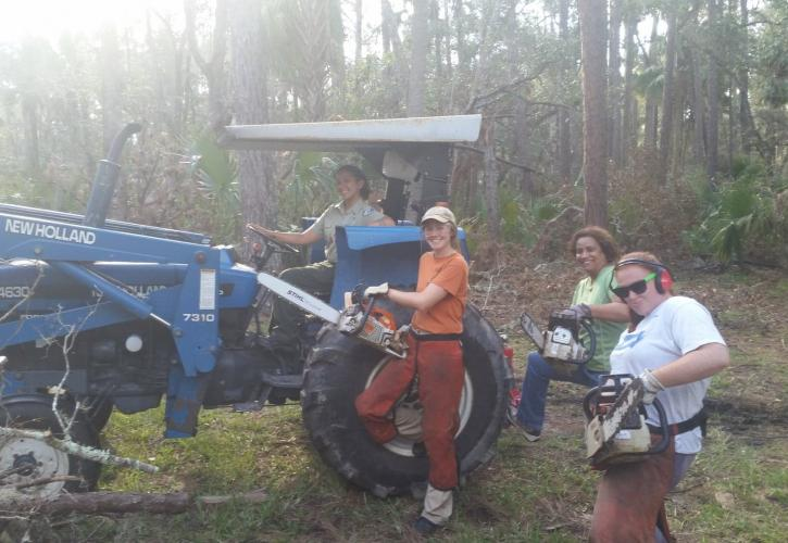 Hontoon Island State Park staff helping with Irma Recovery Efforts
