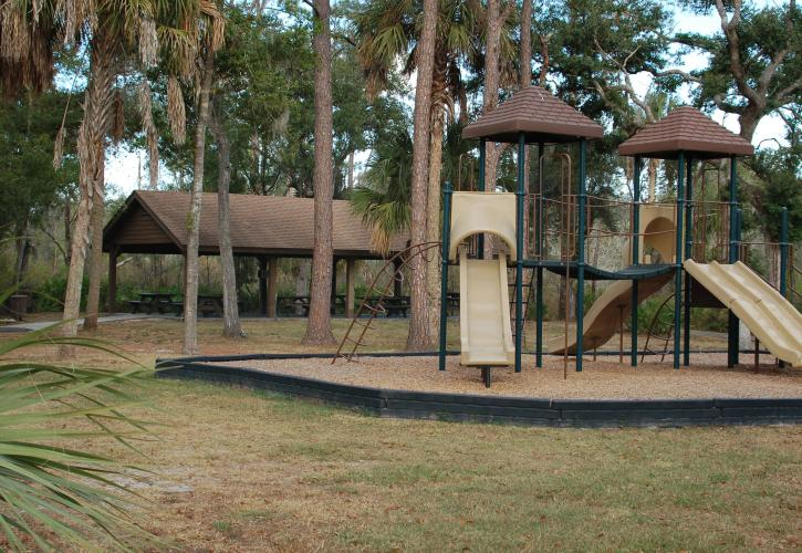 A view of the playground.