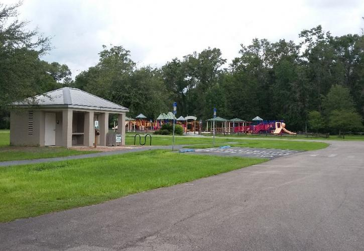 W.S. restroom and playground